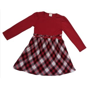 Gymboree Girls long sleeve red plaid dress size 3T